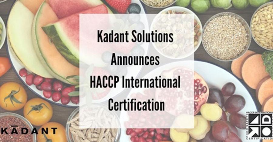 Kadant Solutions Obtains HACCP International Certification